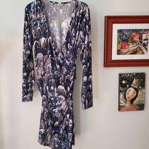 Jennifer Lopez bodycon patterned dress. XL NWOT
